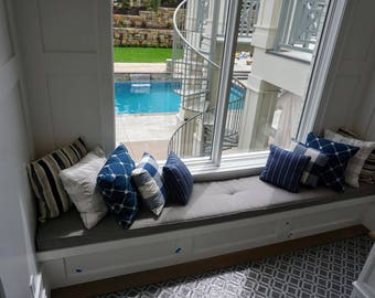 Window or Bench Seat Cushions Custom Made EXAMPLE