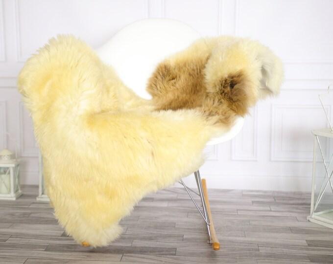Sheepskin Rug | Real Sheepskin Rug | Shaggy Rug | Chair Cover | Sheepskin Throw | Brown Beige Sheepskin | Home Decor | #Apriher32