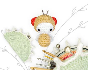 lalylala FRUIT FLY and Venus FLYTRAP playset crochet pattern • incl. Fruit Fly and Carnivore purse / clutch