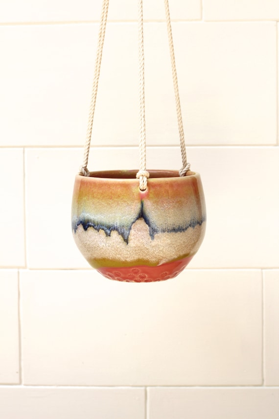 hanging planter with cotton cord