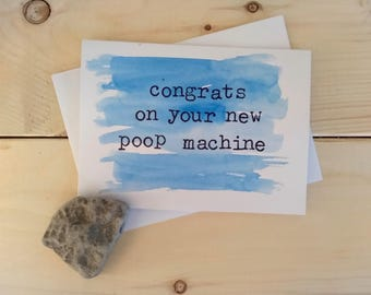 congrats on your new poop machine