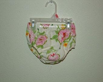 Floral Print Diaper Cover