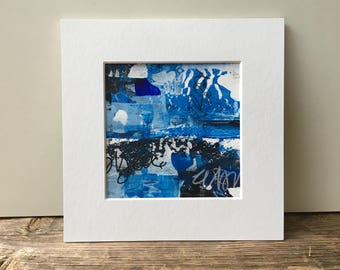 Blue Abstract Painting, Original Abstract, Graffiti Painting, Graffiti Art, Seascape, Blue Wall Art