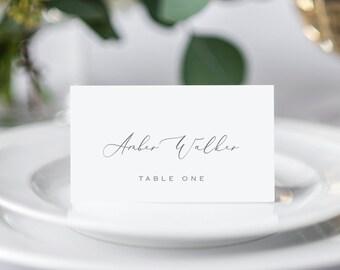 Wedding Escort Card Etsy - Escort card template