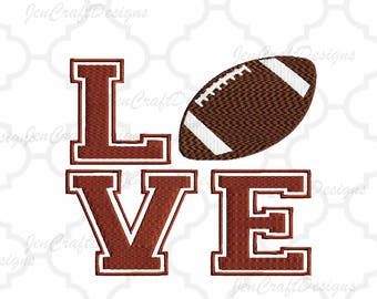 Football LOVE Embroidery Design, football mom, Fall Instant Download digital file in PES, EXP, Vip Hus, Xxx and Jef