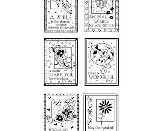 "Inkadinkado ""Boxed Wishes"" - Clear stamps"