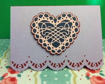 Squiggle tattoo Valentine valentines card for him or her husband wife fiance fiancée boyfriend girlfriend