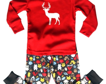 Woodland Baby and Toddler Pajama Set