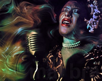 Billie Holliday, Lady Day, print, poster