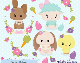 INSTANT DOWNLOAD, spring clipart and vectors for crafts and products
