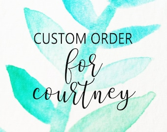 Custom Watercolor Paintings for Courtney