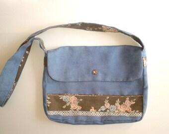 Blue Suede purse