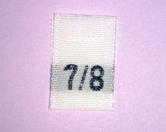 Size 7/8 (Seven-Eight) Woven Clothing Size Tags (Package of 1,000)