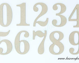 Set of numbers from 0 to 9, made in medium, size 7.5 cm