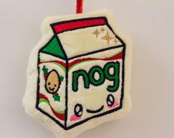 Kawaii Christmas Nog Plush Ornament