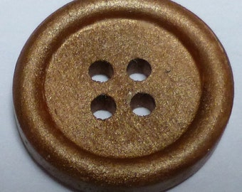 Small round hand painted wooden buttons – Dark Copper