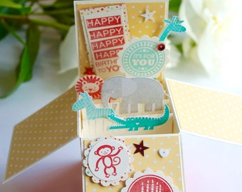 Red&Yellow Baby Birthday Card