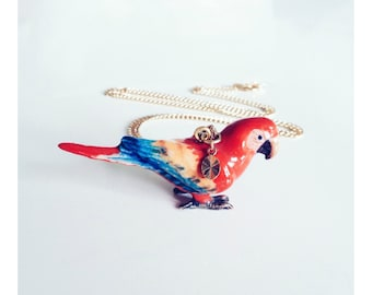 Porcelain Parrot Necklace
