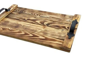 Wooden Serving Tray, Decorative Wood Tray, T.V. Tray, Ottoman Tray, Breakfast Tray, Pallet Wood Tray, Country Decor, Farmhouse Decor