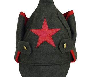 Red Army Budenovka Hat w/Red Star