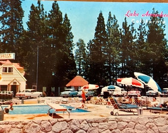 Vintage Postcard of Village Cottages in Lake Arrowhead CA RARE