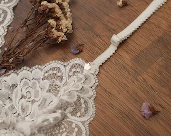 BRALETTE BEAUTIFUL WHITE lace bralette white