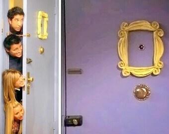 FRIENDS TV Show. Peephole frame. FRIENDS Frame series Monica's  apartament door peephole door Cadre rahmen frame F.R.I.E.N.D.S. Yelow frame