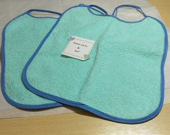 Pack of 2 baby bibs - blue