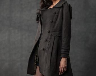Short coat, coat, peacoat, winter coats for women, jacket, winter coats, mantel, womens clothing, womens coat, wool coat, wool jacket C382