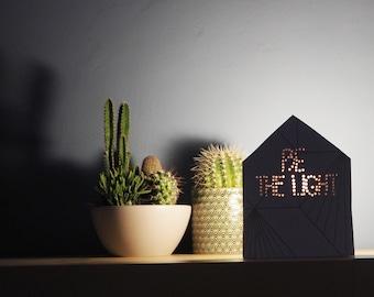 Design lamp, Cottage lamp, Bedside table lamp, Wooden lamp, Desk lamp, Table lamp, Gift for her, Wedding gift, Geometric lamp, Gold lamp