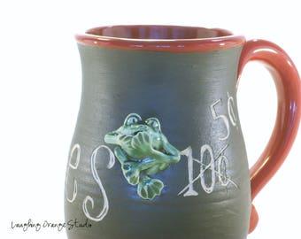Frog Blowing Kisses Mug
