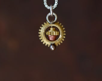Sun spinning Camera Part Necklace