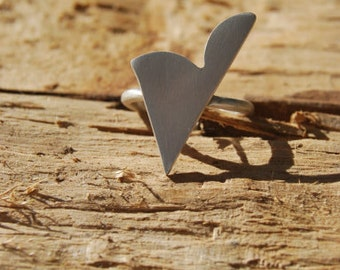 Heart Ring / Contemporary / Handmade / made to order