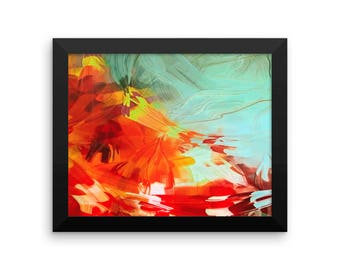 Abstract Watercolor Framed Poster