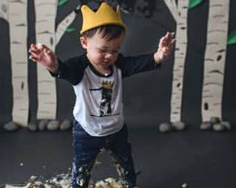 First Birthday, 1st Birthday, Where The Wild Things Are Birthday Shirt,  Wild One, First Birthday, One Birthday shirt, Cake Smash