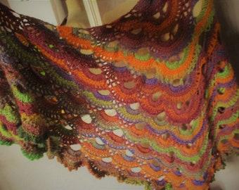 SHAWL woman style Bohemian hand made crochet