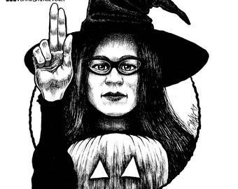 Halloween Saints Series 2: Rhonda Original Ink Art