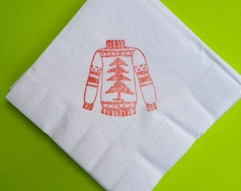 UGLY Sweater Party Napkins / Set of 50 / Perfect for Christmas Parties