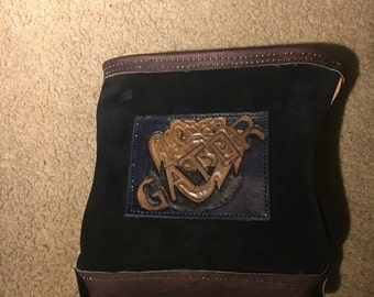 Custom Leather Rodbuster bag ironworker