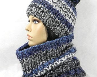 Bobble * Beanie * scarf * loop * Set 2 * Coarse knit * bulky * hand-knitted * wool