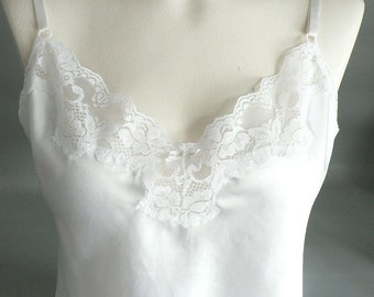 White Lacy Lingerie Camisole Teddy