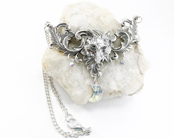 Wolf Necklace - Wolf Pendant - Wolf Jewelry - Fantasy Wolf Jewelry - Wolf Pendant Necklace - Wolf Costume Jewelry - Wolf Charm