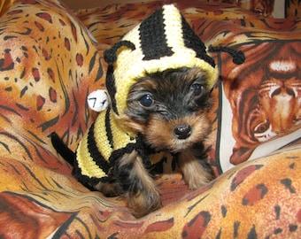 Dog sweater Bee dog jumper, puppy sweater puppy jumper, small dog clothes dog coat, small dog sweater medium large dog sweater costume