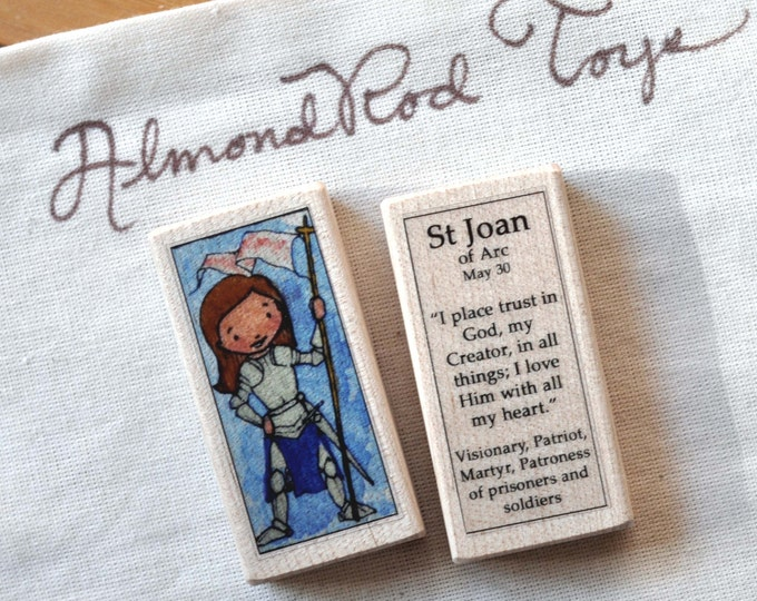 St Joan of Arc Patron Saint Block // 100+ Catholic Saints to choose from // Catholic girl