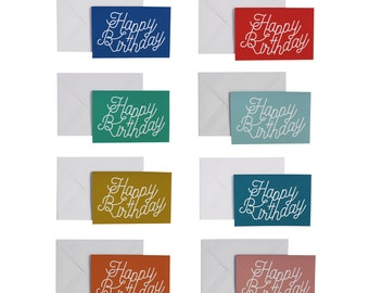 Graphic Happy birthday greeting card to choose between 8 models