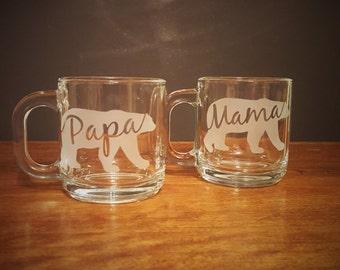 Mama & Papa Bear Mug - Set of 2