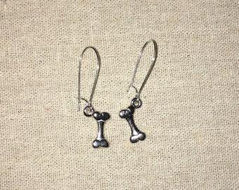 Drop Bone Earrings