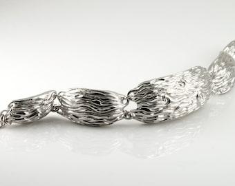 Sterling Silver Link Bracelet, Contemporary Jewelry, Metal Bracelet, Chunky Bracelet, Chunky Links Bracelet, Designer Bracelet, Linked