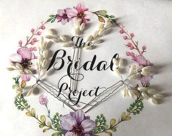 Set of 3! Bridal Pearl Hair Pin, Pearl Hair Pin, Bridal Pearl Hair Pin, Pearl Hair Comb
