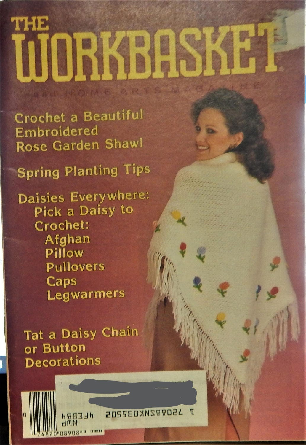 1983 April Edition THE WORKBASKET and Home Arts Magazine..crochet ...